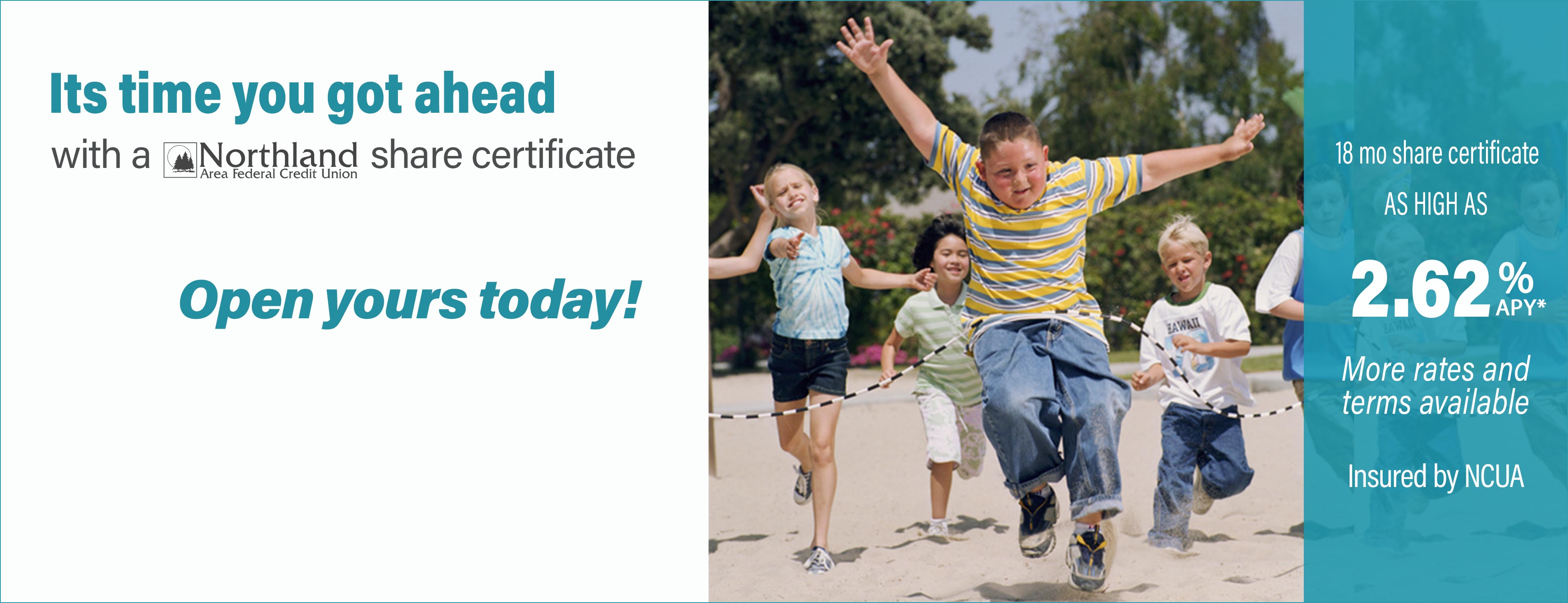 Its time you got ahead share certificate banner
