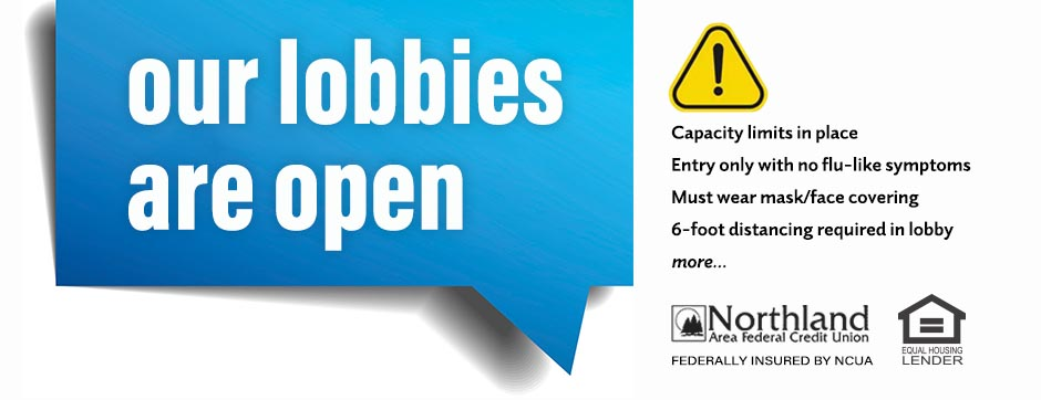 Our Lobbies are Open with Safety Measures in place.