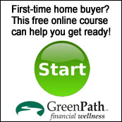 GreenPath offers a free online course for first time home buyers. Select to start course now.